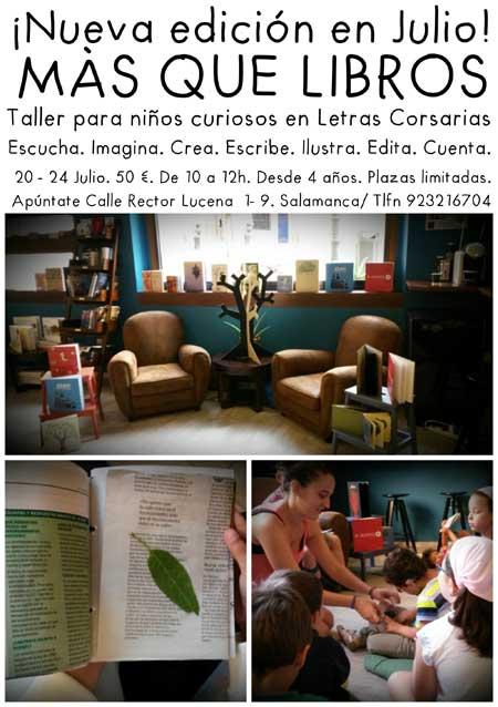 Cartel Mas que libros - Letras Corsarias Librería Salamanca