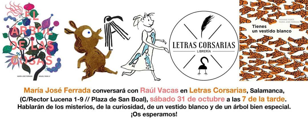María José Ferrada y Raúl Vacas - Letras Corsarias Librería Salamanca