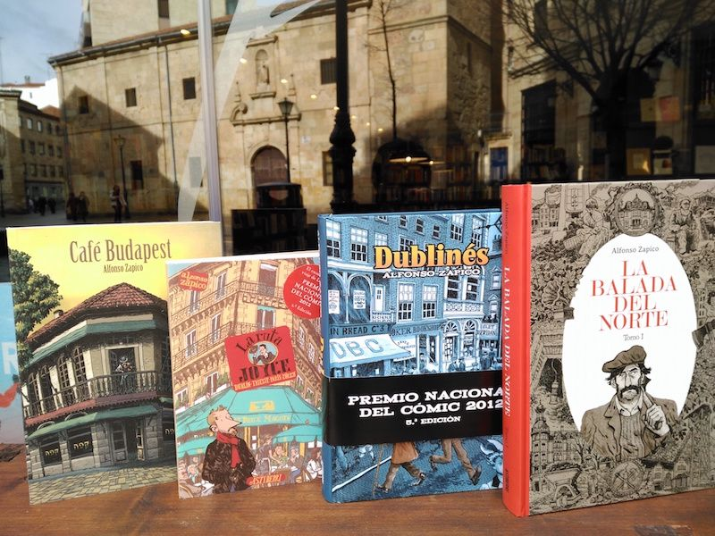 Los cómics de Alfonso Zapico - Letras Corsarias Librería Salamanca