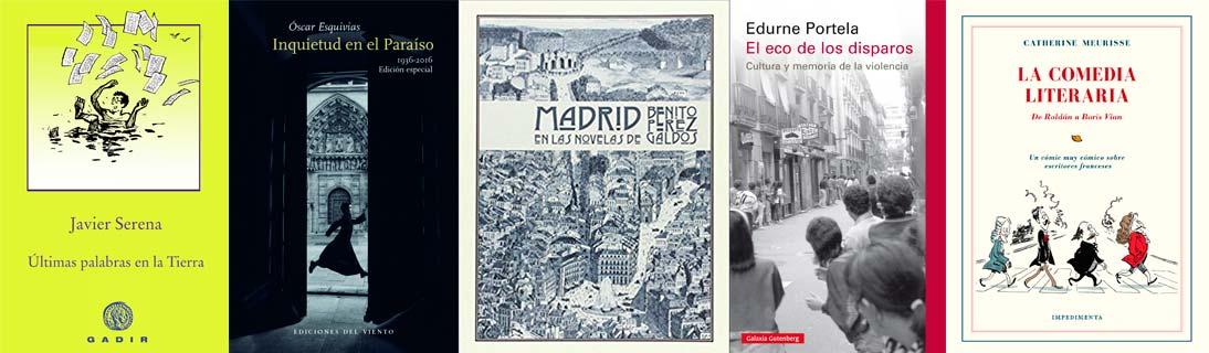 Libros recomendados por Alfonso Zapico
