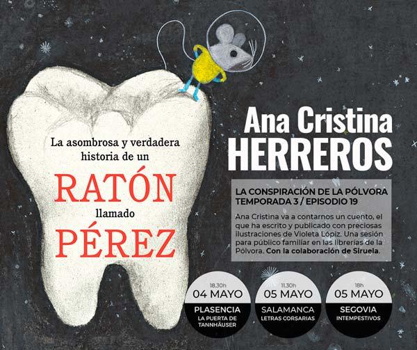 Ana Cristina Herreros en Letras Corsarias Librería Salamanca
